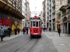 Tram on Istikal Street